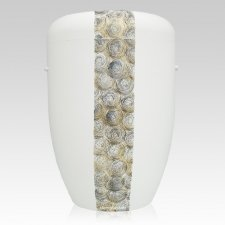 Swirls Biodegradable Urn in White