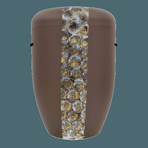 Swirls Biodegradable Urn in Brown