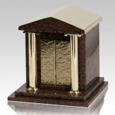 House Of God African Red Granite Cremation Urn