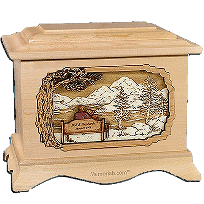 Together Always Maple Cremation Urn for Two