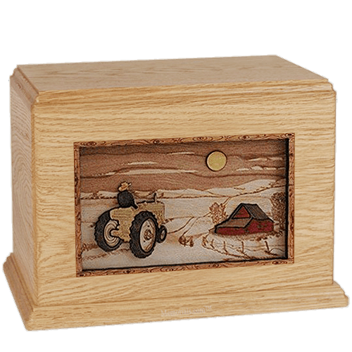 Tractor & Moon Maple Companion Urn