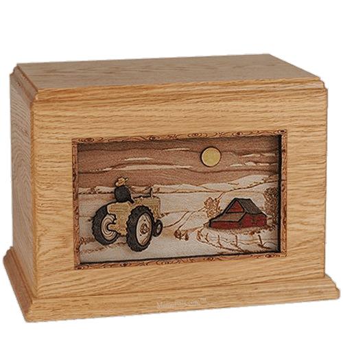 Tractor & Moon Oak Companion Urn