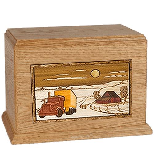 Trucker Oak Companion Urn