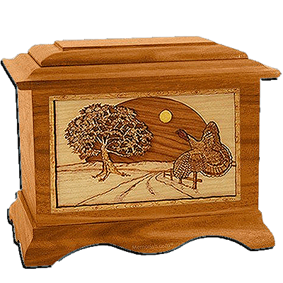 Turkey Mahogany Cremation Urn For Two