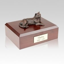 Tabby Bronze Large Cat Cremation Urn