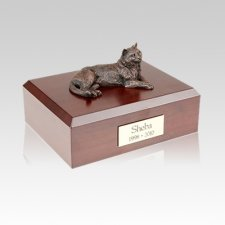 Tabby Bronze Medium Cat Cremation Urn