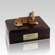 Tabby Orange Large Cat Cremation Urn