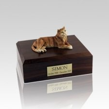 Tabby Orange Small Cat Cremation Urn