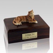 Tabby Orange X Large Cat Cremation Urn