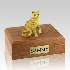 Tabby Red Sitting X Large Cat Cremation Urn