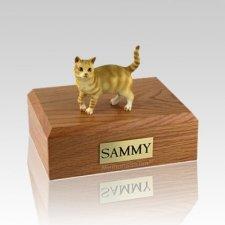 Tabby Red Standing Medium Cat Cremation Urn