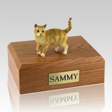 Tabby Red Standing X Large Cat Cremation Urn