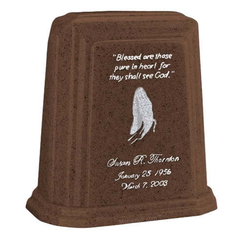Tablet Millennium Chocolate Marble Urn