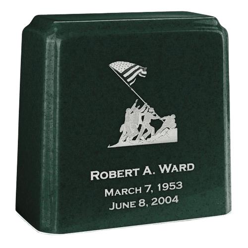 Tablet Niche Emerald Marble Urn