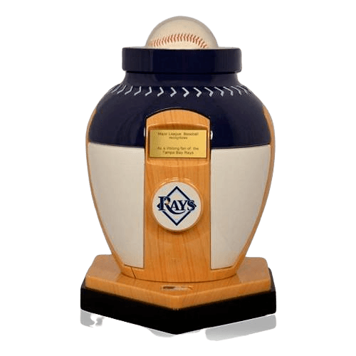 Tampa Bay Rays Baseball Cremation Urn