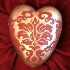 Tapestry Ceramic Heart Urn