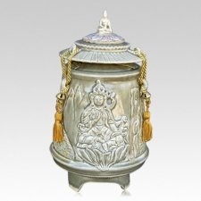 Tara Lotus Ceramic Cremation Urn