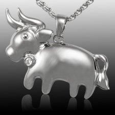 Taurus Zodiac Cremation Pendant