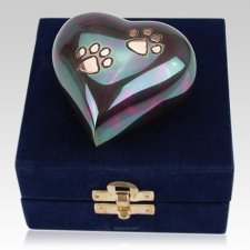 Raku Heart Pet Keepsake Urn