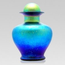 Teal Sea Glass Cremation Urns