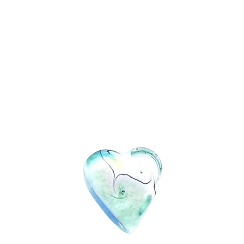 Teal Sea Glass Heart Keepsake