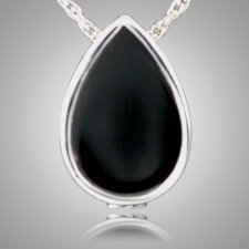 Onyx Tear Drop Keepsake Pendant