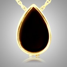 Onyx Tear Drop Keepsake Pendant IV