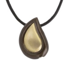 Teardrop Coffee Cremation Jewelry