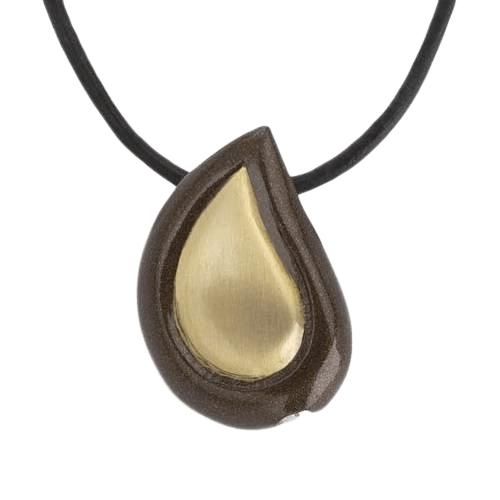 Teardrop Coffee Cremation Jewelry