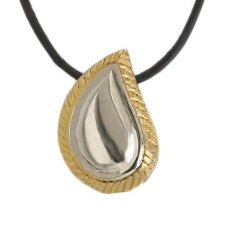Teardrop Gold & Silver Cremation Pendant