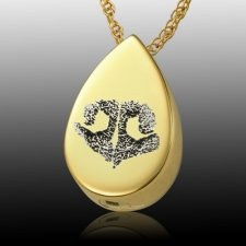 Teardrop Nose 14k Gold Print Cremation Keepsakes