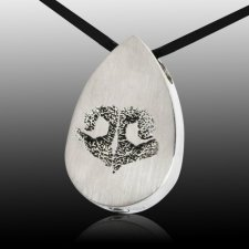 Teardrop Nose Stainless Print Cremation Keepsake