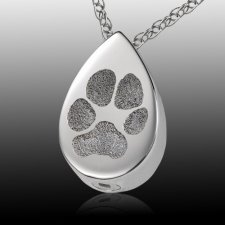 Teardrop Paw Print Cremation Keepsakes