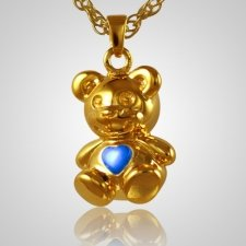 Teddy Bear Blue Keepsake Jewelry IV
