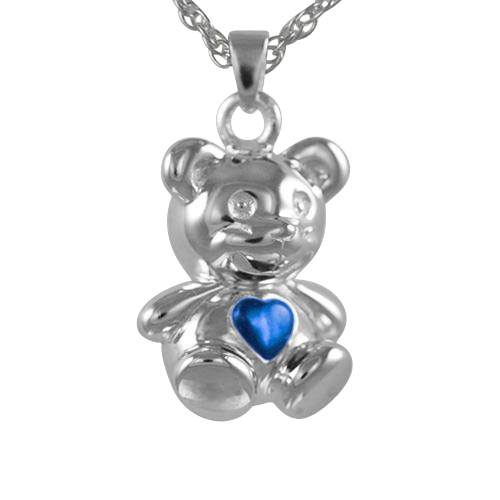 Teddy Bear Blue Keepsake Jewelry