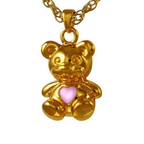 Teddy Bear Pink Keepsake Jewelry IV