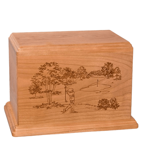 Tee Time Companion Cherry Wood Urn