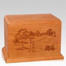 Tee Time Companion Mahogany Wood Urn