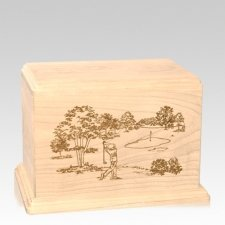 Tee Time Individual Maple Wood Urn