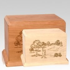 Tee Time Wood Urns