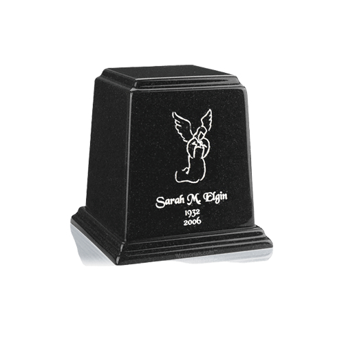 Temple Charcoal Keepsake Marble Urn