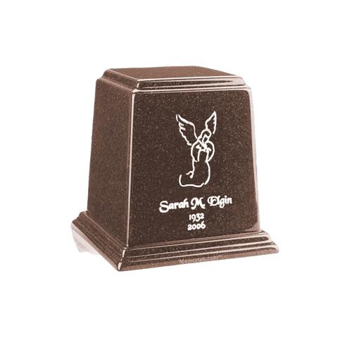 Temple Chocolate Mini Marble Urn
