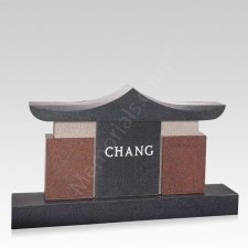 Temple Companion Granite Headstone