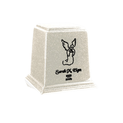 Temple Frost Mini Marble Urn