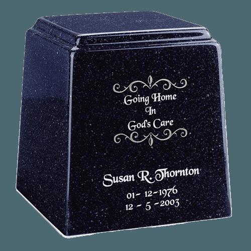 Temple Niche Sapphire Blue Marble Urn