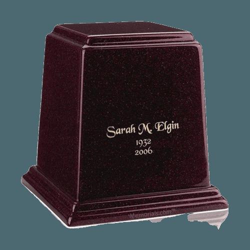 Temple Burgundy Medium Marble Urn