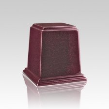 Temple Raspberry Mini Marble Urn
