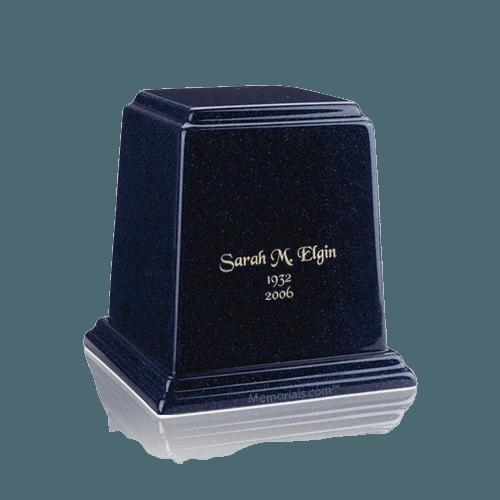 Temple Sapphire Blue Keepsake Marble Urn