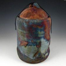 Terrestrial Raku Cremation Urn