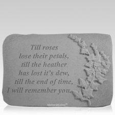 Till Roses Ivy Memorial Stone